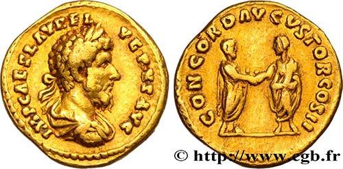 LUCIUS VERUS Type : Aureus Date ...